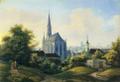 München, Mariahilfkirche Kirchner Aquatinta 1839.png