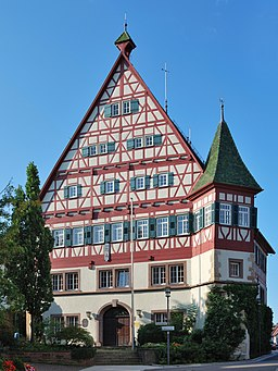 Münchingen Rathaus Eingang