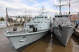 HMS Inverness (M102) - Image: M 06 Tālivaldis, M314 Sakala NOCO 2014 02