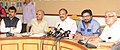 M. Venkaiah Naidu holding a press conference to announce and elaborate on schemes for 'De congestion of Delhi' and other related matters, in New Delhi.jpg