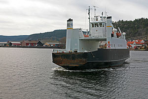 Svelvik - The Svelvik ferry line is the shortest in Norway.