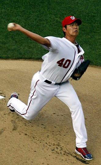 Chien-Ming Wang - Wang pitching for the Washington Nationals in 2011