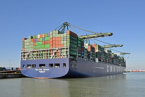CMA CGM - CMA CGM Nevada in the port of Zeebrugge, Belgium