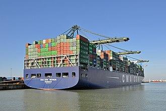 CMA CGM - CMA CGM Nevada in the port of Zeebrugge, Belgium