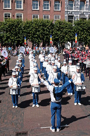 Marching and Cycling Band HHK - Line up during a performance