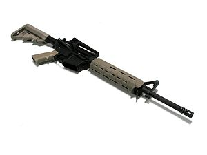 M-LOK - Magpul MOE M-LOK handguard on a privately assembled AR-15 semi-automatic rifle