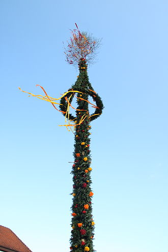 Maypole - A maypole in East Frisia, Germany