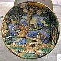 Maiolica di urbino, danae e giove come pioggia dorata, 1550-1574.jpg