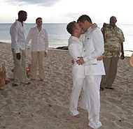 A same-sex wedding ceremony on June 2006.