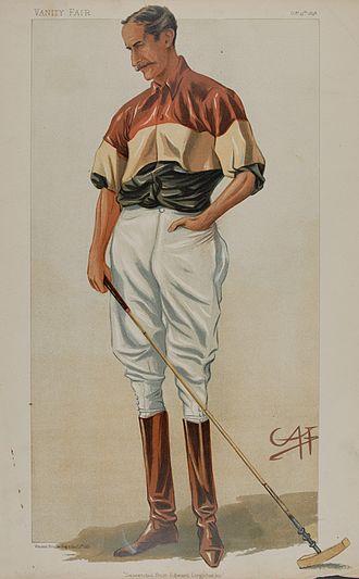 "Michael Rimington - A caricature of Rimington published in Vanity Fair, 1898. The original caption read ""Descended from Edward Longshanks""."