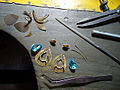 Making topaz earrings.jpg