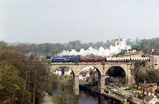 Knaresborough town in North Yorkshire, England