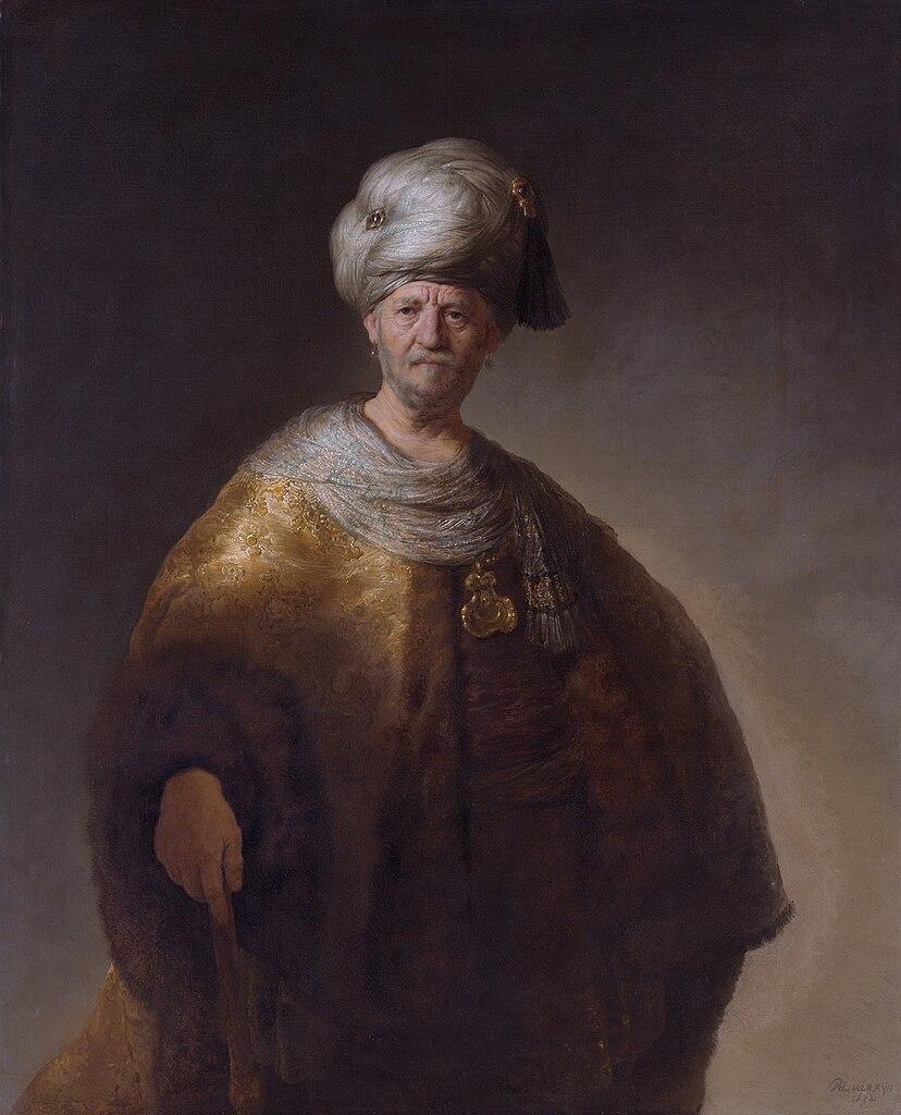 File Man In Oriental Costume  By Rembrandt Van Rijn Jpg