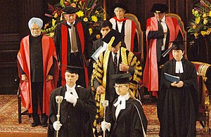 Manmohan Singh at a ceremony where he was conferred with Honourary Doctoral Degree