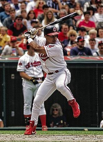 Manny Ramirez - Ramirez bats in 1996