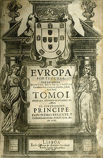 Manuel de Faria e Sousa - Frontispice of Europa Portuguesa, 1678