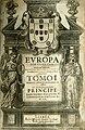 Manuel de Faria e Sousa, Europa portuguesa, Antonio Craesbeeck 1675, frontispicio.jpg