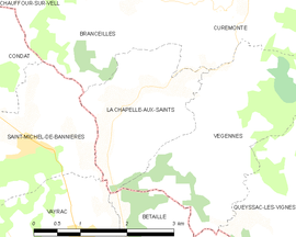 Mapa obce La Chapelle-aux-Saints