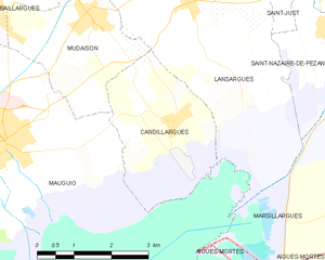 Candillargues - Map