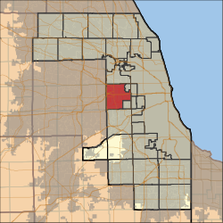 Map highlighting Proviso Township, Cook County, Illinois.svg