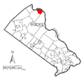 Map of Bridgeton Township, Bucks County, Pennsylvania Highlighted.png