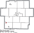 Map of Carroll County Ohio Highlighting Sherrodsville Village.png