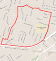 Map of Castle Heights, Los Angeles.png