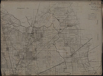 Harris County, Texas - Map of Harris County – Northeast one-fourth (circa 1912)