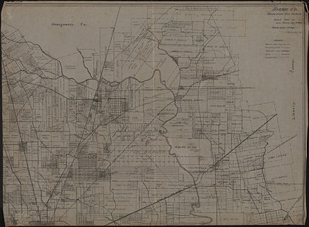 Map of Harris County - Northeast one-fourth (circa 1912) Map of Harris County - Northeast One-fourth.jpg