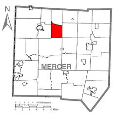 Map of Otter Creek Township, Mercer County, Pennsylvania Highlighted.png
