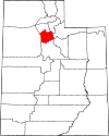 State map highlighting Salt Lake County