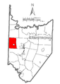Map of West Franklin Township, Armstrong County, Pennsylvania Highlighted.png