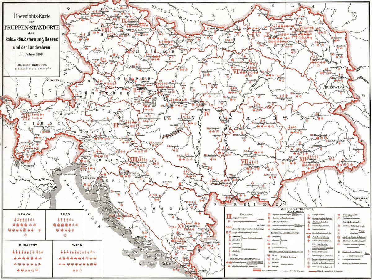 Der Küchenring Österreich ~ garnisonen der landstreitkräfteÖsterreich ungarns u2013 wikipedia