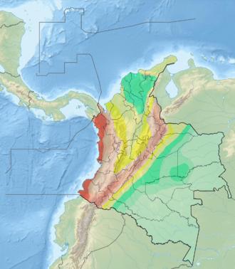 Malpelo Plate - Image: Mapa de Amenaza Sísmica de Colombia