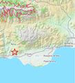 Mapa terremoto berja 1993 Epicentro.png