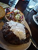 Maple bourbon butter burger with salad.jpg
