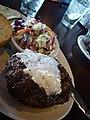 Maple bourbon butter burger with salad.jpg