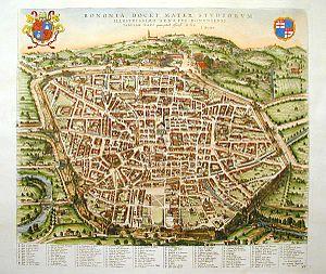 Mappa di Bologna del Blaeu