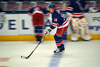 Marc Staal - Staal warming up before March 24, 2010 game against the New York Islanders at Madison Square Garden