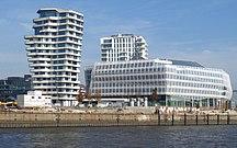 Hamburg-Architecture-Marco-Polo-Center und Unilever Haus am Strandhafen der Norderelbe in Hamburg Foto Wolfgang Pehlemann P1270870