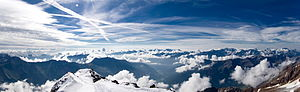 Ortler Alps - A panoramic view from Monte Vioz