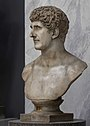 Marcus Antonius marble bust in the Vatican Museums, side view.jpg