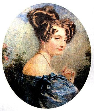 John Herschel - Margaret Brodie Stewart by Alfred Edward Chalon 1829