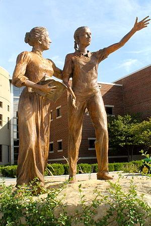 Newman University, Wichita - St. Maria De Mattias Statue