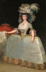 Francisco Goya: María Luisa of Parma wearing panniers
