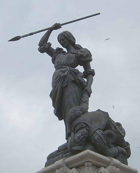 Estatua de María Pita en La Coruña