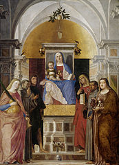 Virgin and Child with Saints Catherine, Francis, John the Baptist, Mary Magdalene, Antony of Padua, John the Evangelist