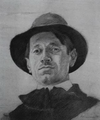 Marian Ruzamski - Portret własny (w kapeluszu), Kraków 1921.png