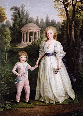 Ludwig Guttenbrunn - Image: Marie Therese and Louis Charles by Ludwig Guttenbrunn