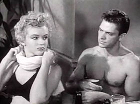 Marilyn Monroe and Keith Andes in Clash by Night trailer.jpg